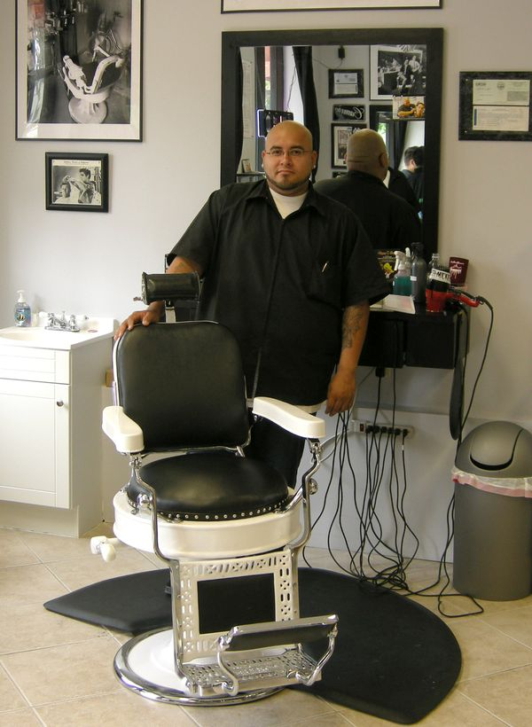 Stray Stitches Mural created for Classic Barbers