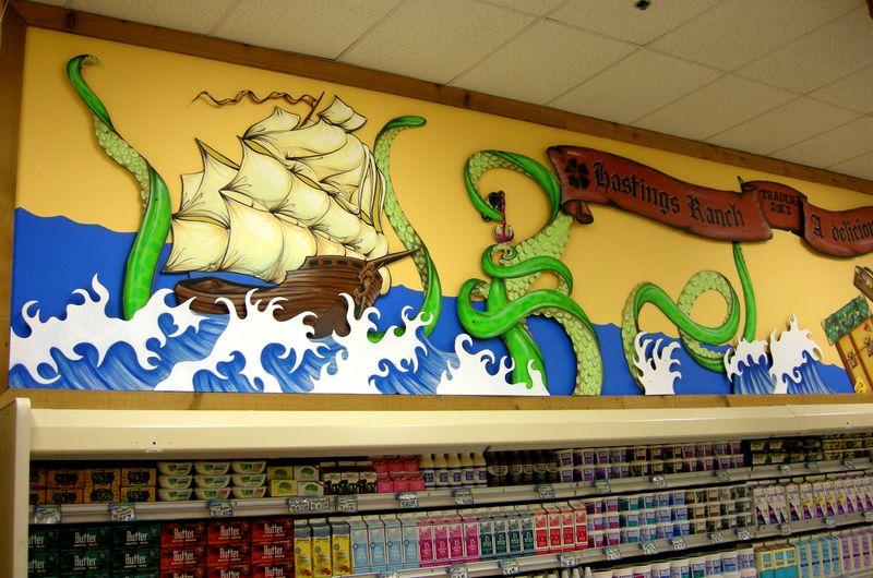 Leftshot of mural